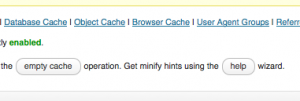 W3 Total cache minification help wizard.