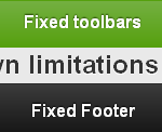Jquery mobile fixed toolbars